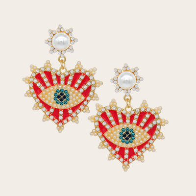 Fashion Cute DIY Animal Beaded Statement Earrings for Women, Festival Accessories for Halloween, Christmas and New Year Party