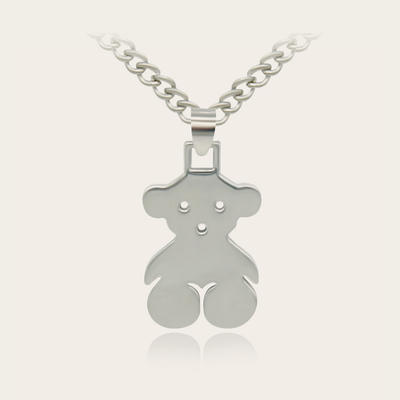 Stainless Steel Bear Necklace Jewelry Pendant