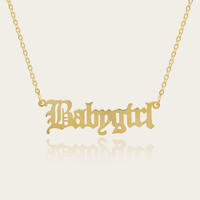 Gold Plated Stainless Steel Babygirl Teens Children Pendant Necklace